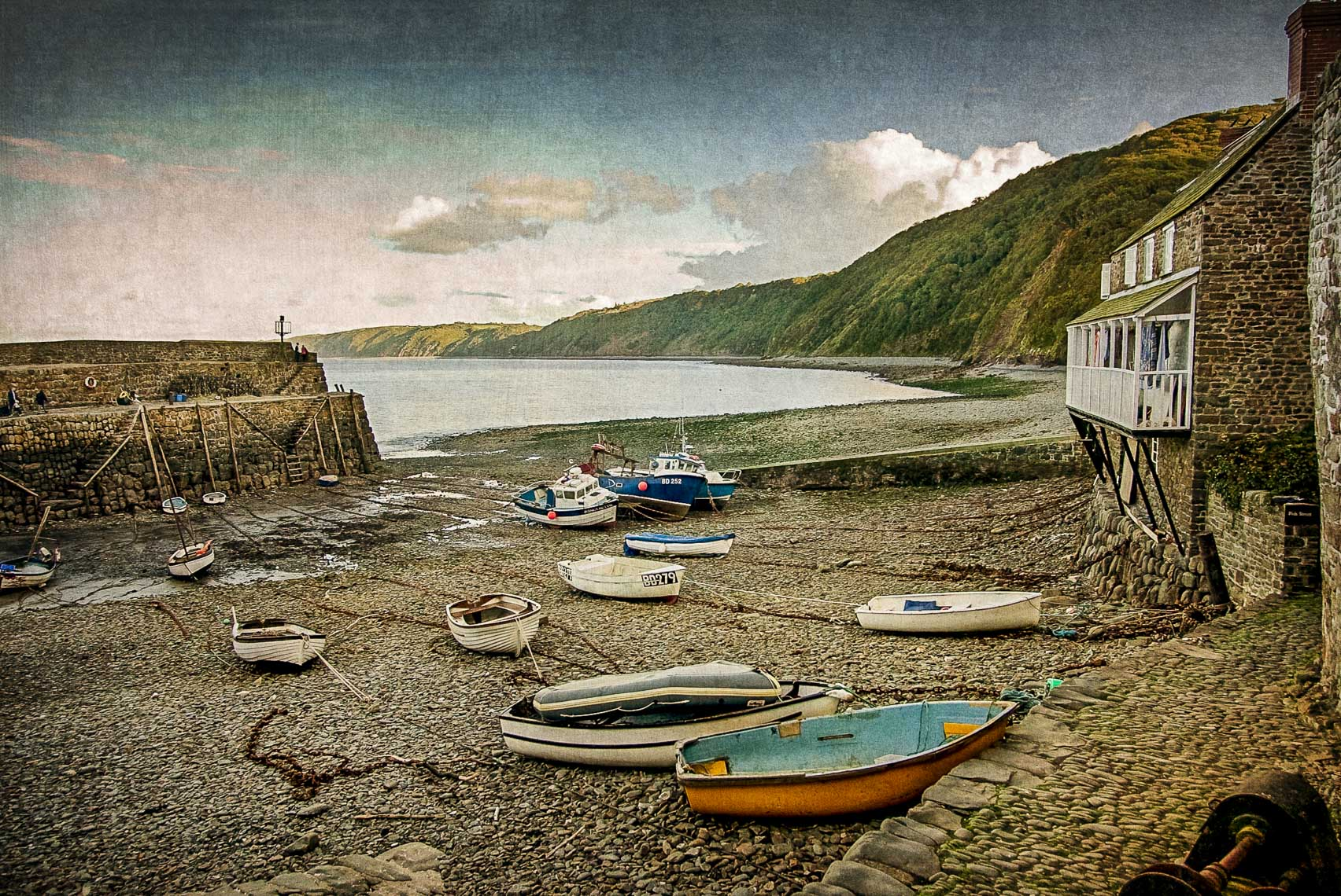 Dusk at Clovelly Harbour, Devon